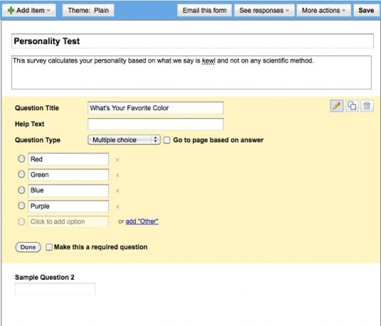Use Google Forms For Building Simple Surveys and Polls | Juixe ...