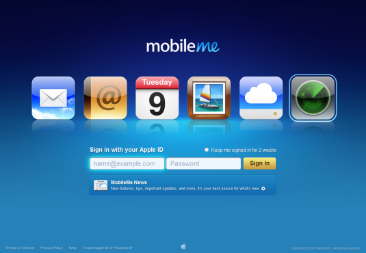Apple&#039;s Mobile Me