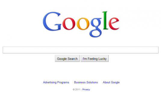 Google's Home Page