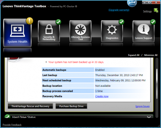 lenovo thinkvantage toolbox