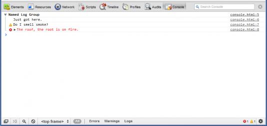 Chrome Developer Tools Web Console